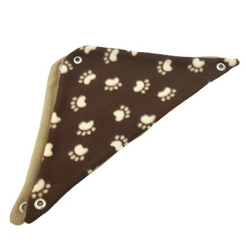 Brown with Tan Paw Prints Fleece Corner Hammock