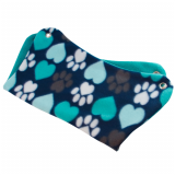 Aqua Hearts and Paws Fleece Hammock