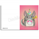 Classic Chinchilla Birthday Card