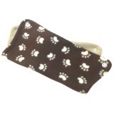 Brown and White Paw Prints Hammock