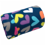 Butterfly Hearts Fleece Tube