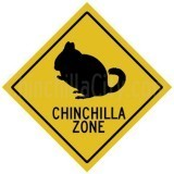 """Chinchilla Zone"" Sticker"
