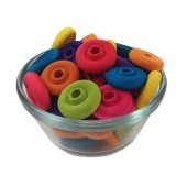 1 inch Wheel Beads in Assorted Colors