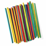 4 inch Colored Wood Sticks