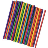 6 inch Colored Wood Sticks