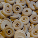 1 inch Natural Wheel Beads