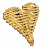 2 inch Natural Vine Hearts for Pets