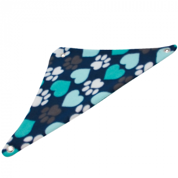Aqua Hearts and Paws Fleece Corner Hammock