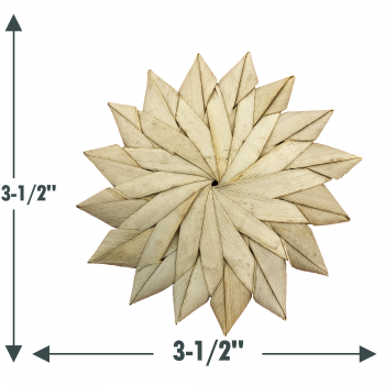 3.5 inch Natural Palm Leaf Sunflower
