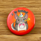 Classic Chinchilla Birthday Pin on Wood BG