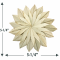 5.25 inch Natural Palm Leaf Sunflower